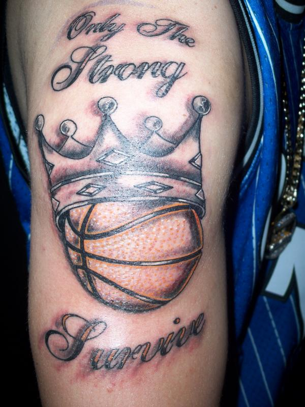 Only The Strong Survive Basketball Tattoo